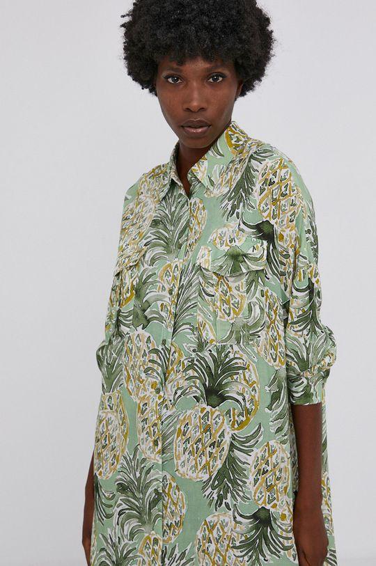 zielony Answear Lab - Koszula Damski