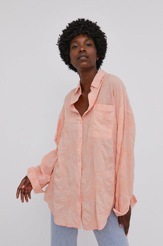 oranžová Answear Lab - Bavlnená košeľa Dámsky