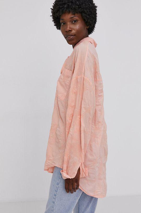 oranžová Answear Lab - Bavlnená košeľa