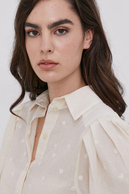kremowy Answear Lab - Koszula bawełniana