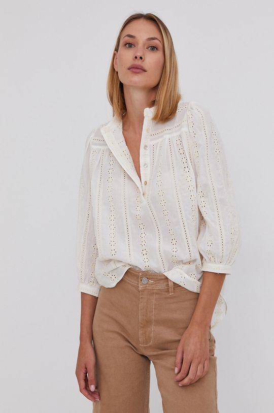 kremowy Answear Lab - Bluzka bawełniana Damski