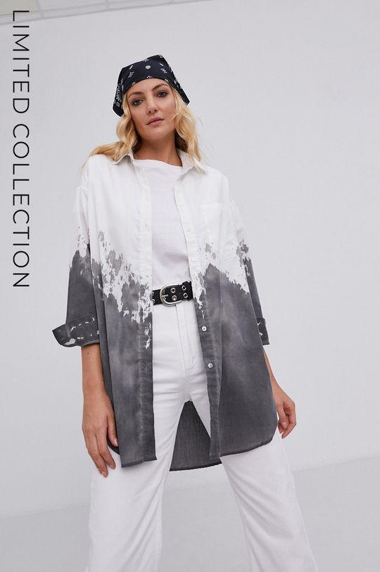 biały Koszula answear.LAB X kolekcja limitowana GIRL POWER, model HAND DYED Damski