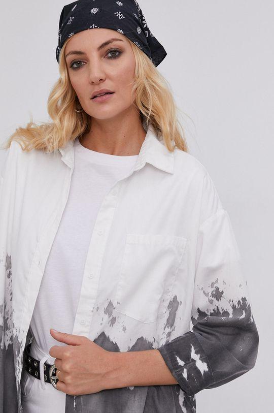 biały Koszula answear.LAB X kolekcja limitowana GIRL POWER, model HAND DYED