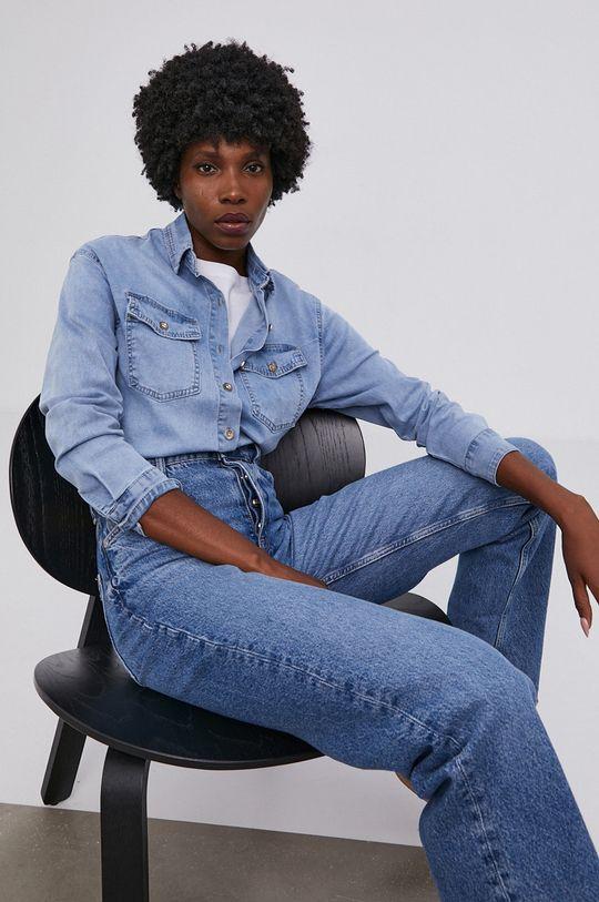modrá Answear Lab - Džínová košile Dámský