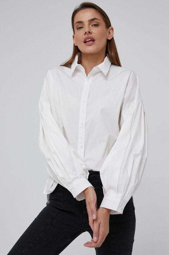 biały Answear Lab - Koszula bawełniana Damski