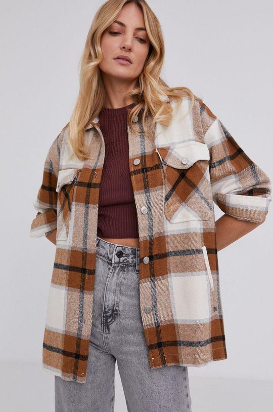 beżowy Answear Lab - Koszula bawełniana Damski