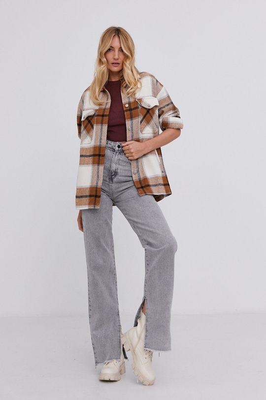Answear Lab - Koszula bawełniana beżowy