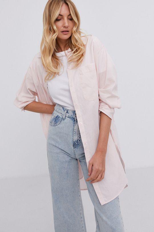 różowy Answear Lab - Koszula bawełniana Damski