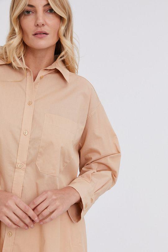 beżowy Answear Lab - Koszula bawełniana