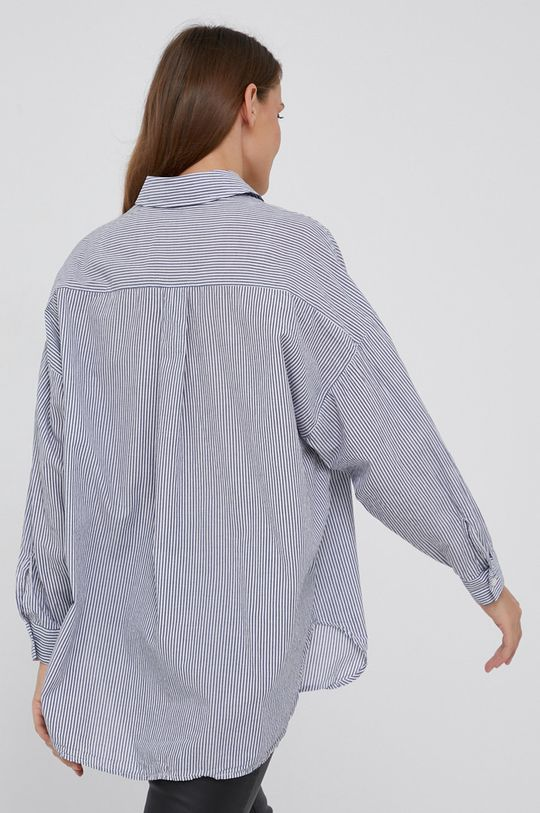 granatowy Answear Lab - Koszula bawełniana