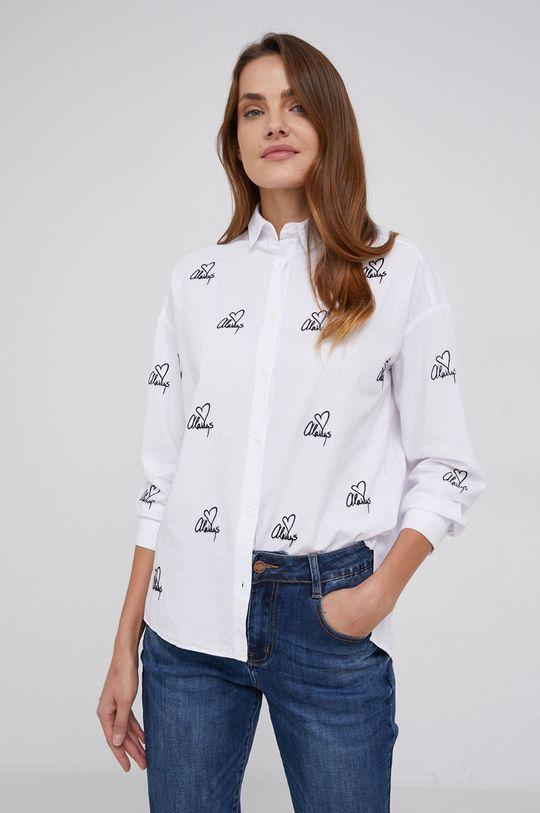 λευκό Answear Lab - Βαμβακερό πουκάμισο Γυναικεία