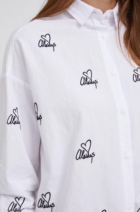 Answear Lab - Βαμβακερό πουκάμισο λευκό