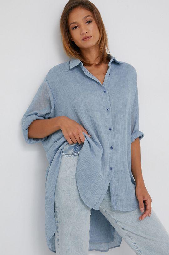 modrá Answear Lab - Košile se směsi vlny