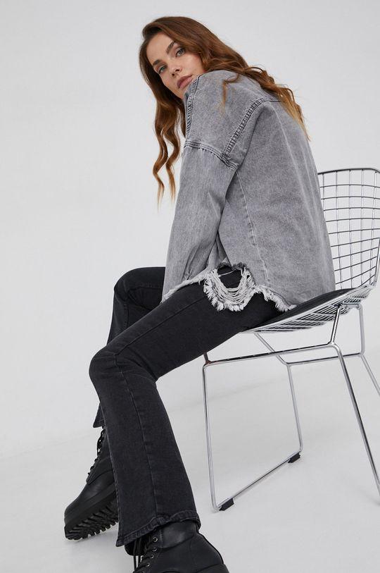 szary Answear Lab - Koszula jeansowa Damski