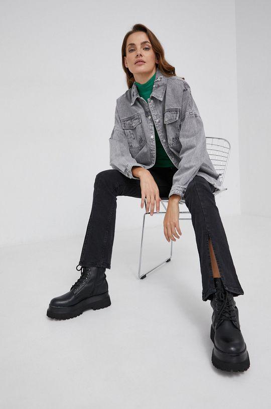 szary Answear Lab - Koszula jeansowa