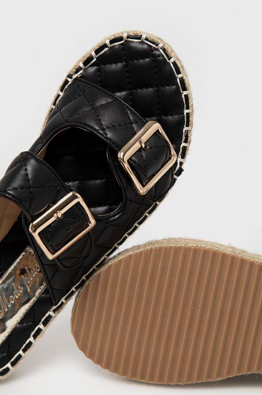 czarny Answear Lab - Klapki Moda Plus