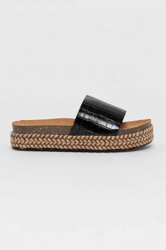 černá Answear Lab - Pantofle Moda Plus Dámský