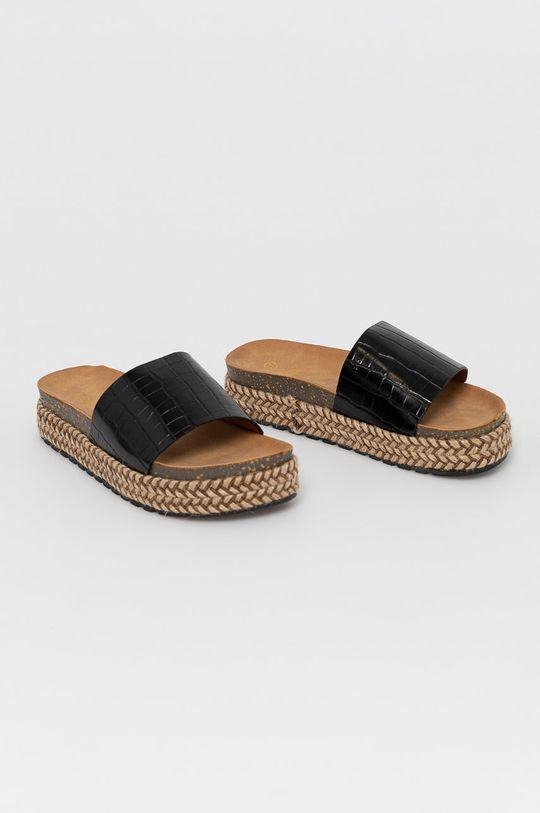 Answear Lab - Pantofle Moda Plus černá
