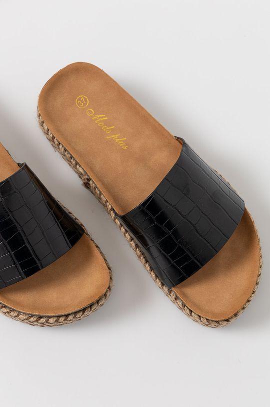 černá Answear Lab - Pantofle Moda Plus