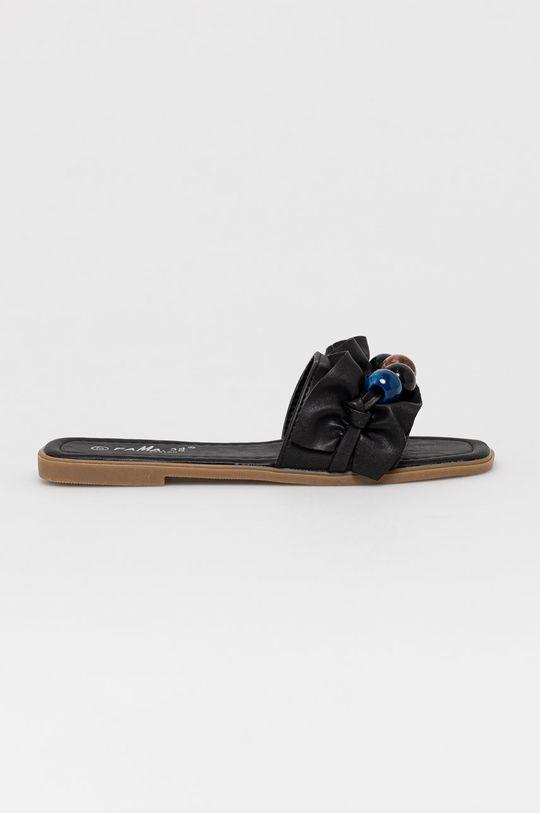 černá Answear Lab - Pantofle Fama Dámský