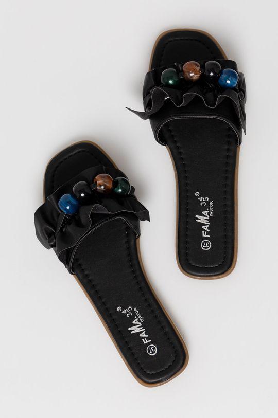 černá Answear Lab - Pantofle Fama