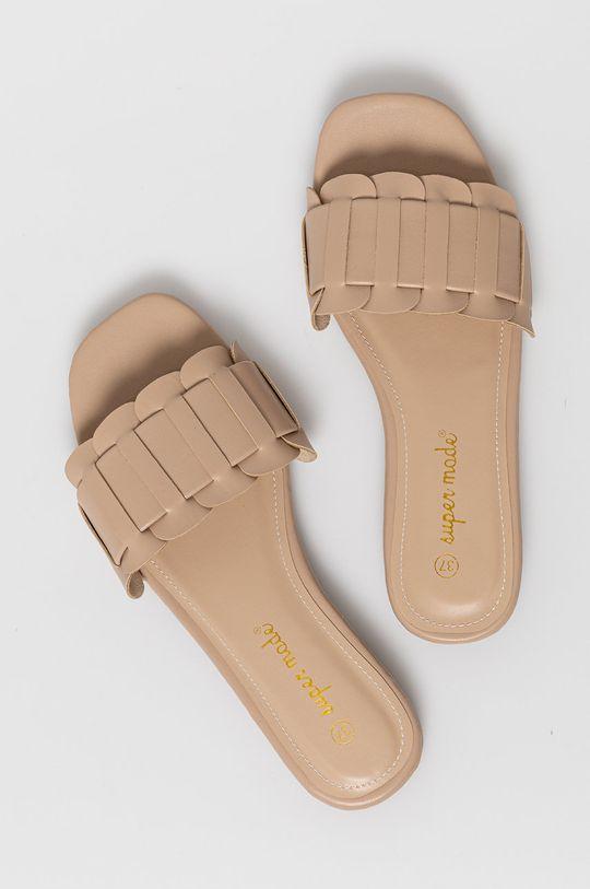 béžová Answear Lab - Pantofle Super Mode