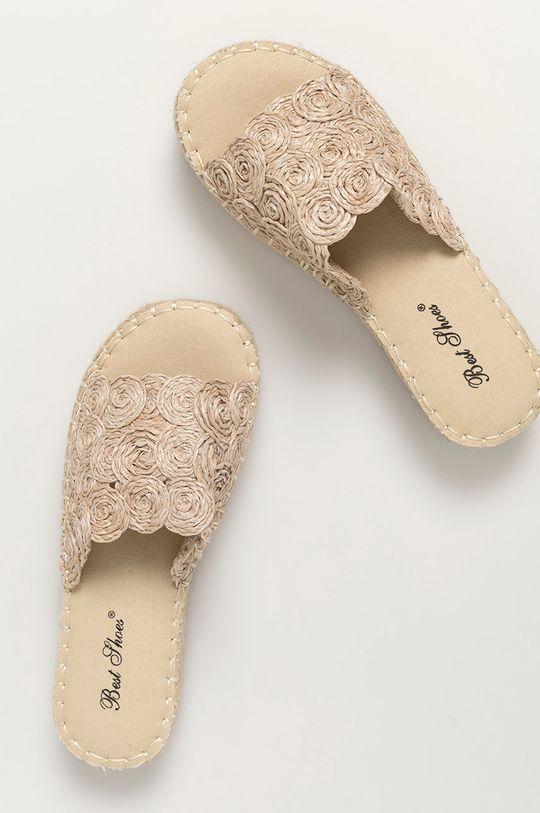 Answear Lab - Šľapky Best Shoes béžová