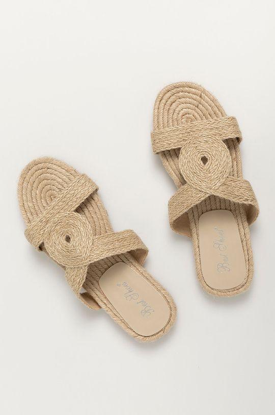 Answear Lab - Шльопанці Best Shoes бежевий
