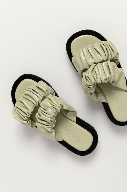 м'ятний Answear Lab - Шльопанці Best Shoes