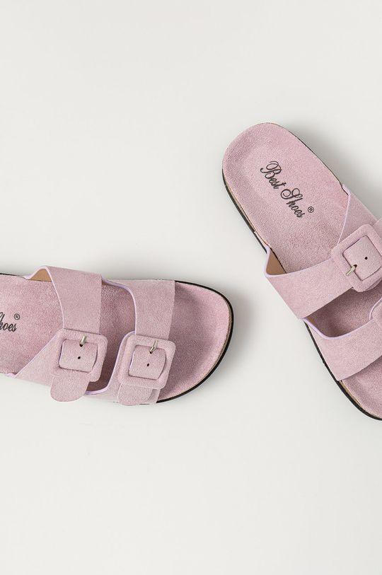 лавандовий Answear Lab - Шльопанці Best Shoes