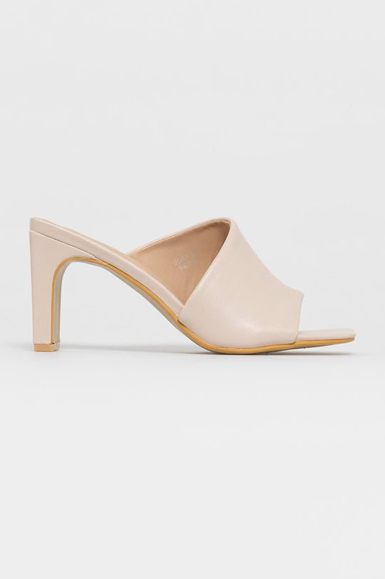 beżowy Answear Lab - Klapki Sweet Shoes Damski