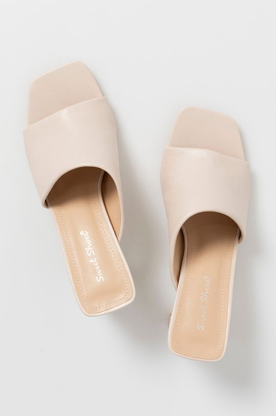 beżowy Answear Lab - Klapki Sweet Shoes