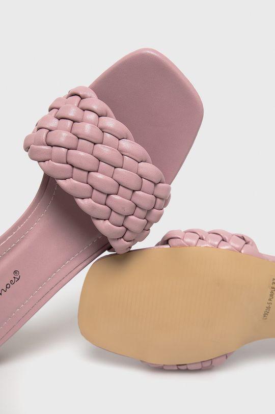 лавандовий Answear Lab - Шльопанці Sweet Shoes