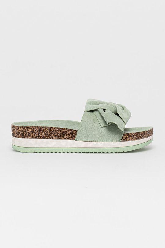 miętowy Answear Lab - Klapki Sweet Shoes Damski