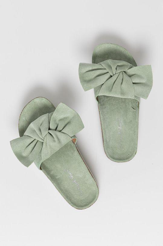 miętowy Answear Lab - Klapki Sweet Shoes