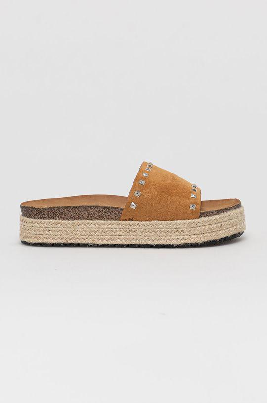 złoty brąz Answear Lab - Klapki Sweet Shoes Damski