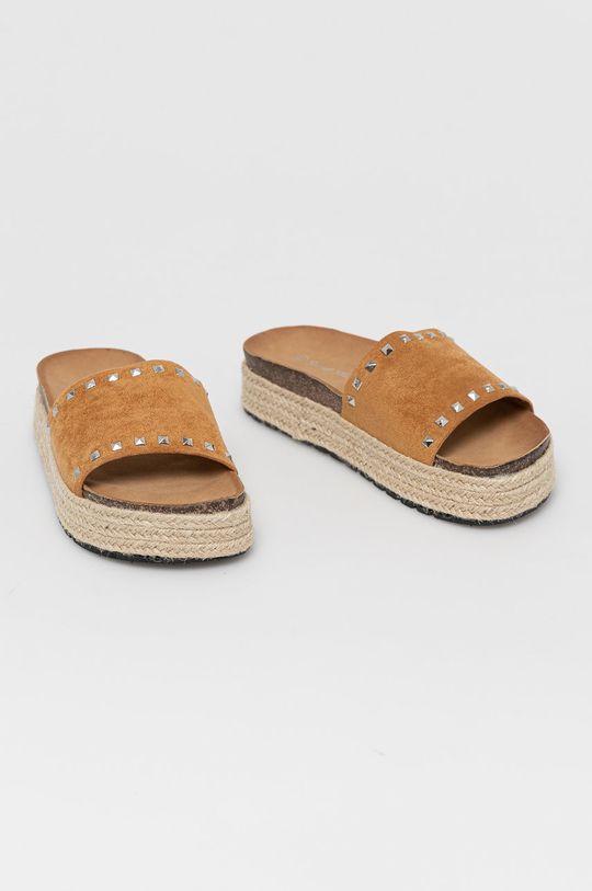 Answear Lab - Klapki Sweet Shoes złoty brąz