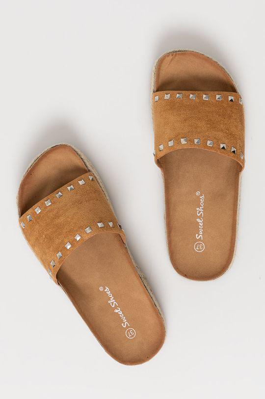 złoty brąz Answear Lab - Klapki Sweet Shoes