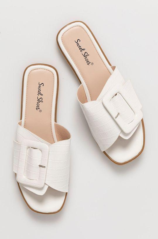 bílá Answear Lab - Pantofle Sweet Shoes