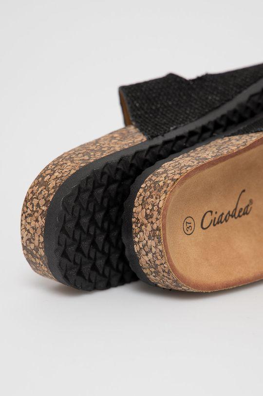 Answear Lab - Pantofle Ciaodea  Svršek: Textilní materiál Vnitřek: Umělá hmota, Textilní materiál Podrážka: Umělá hmota