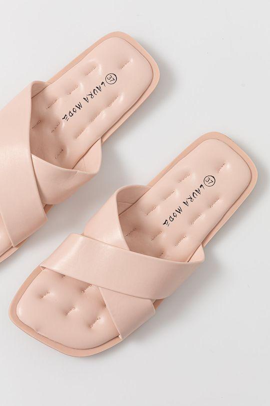 ružová Answear Lab - Šľapky Laura Mode