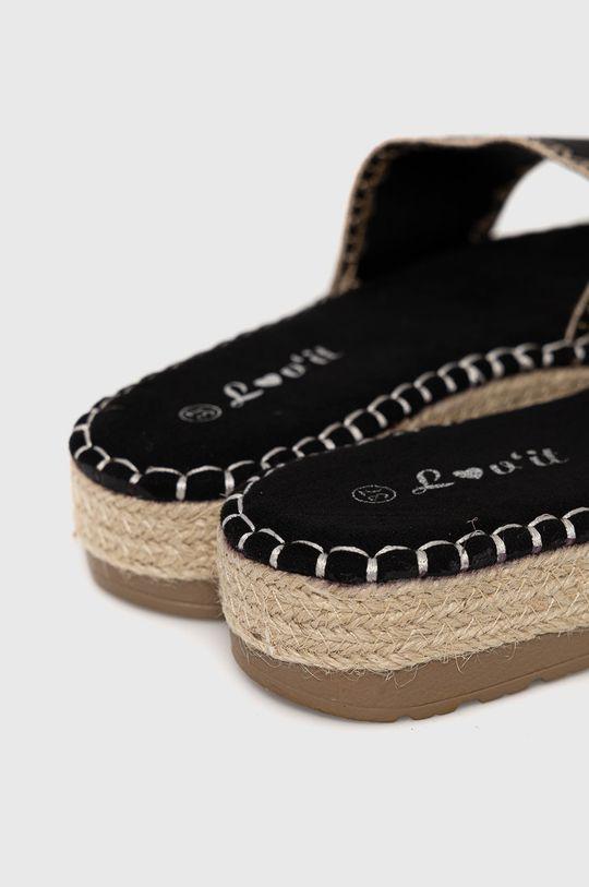 Answear Lab - Klapki lov'it Cholewka: Materiał tekstylny, Wnętrze: Materiał tekstylny, Podeszwa: Materiał syntetyczny