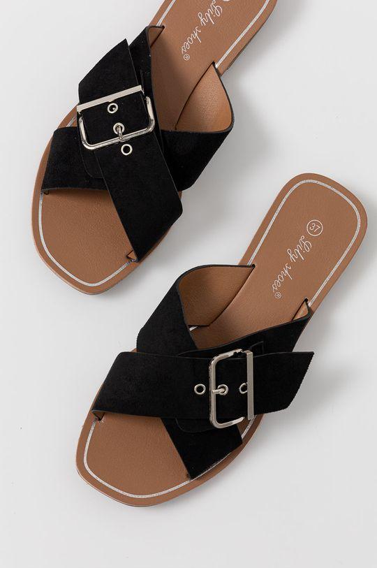 czarny Answear Lab - Klapki Lily Shoes