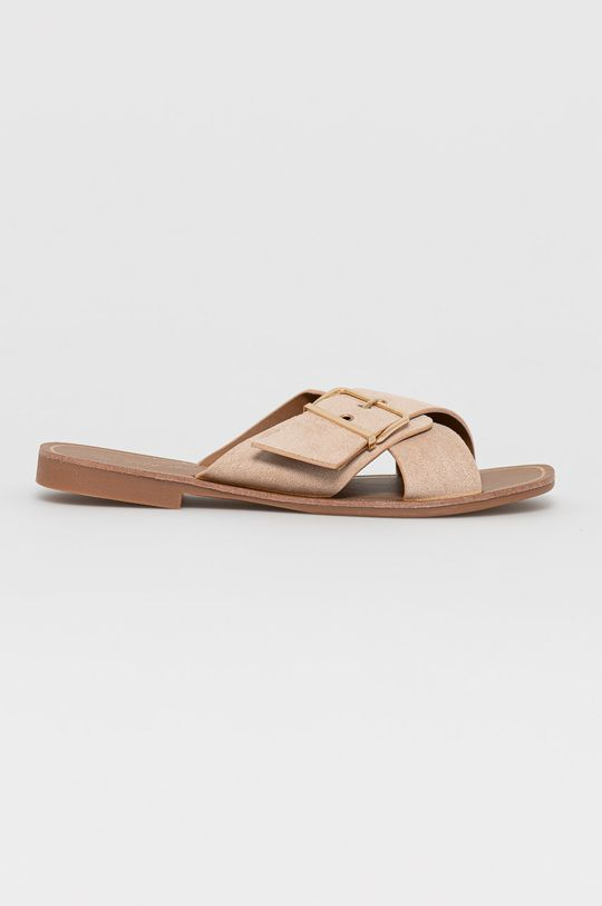 beżowy Answear Lab - Klapki Lily Shoes Damski