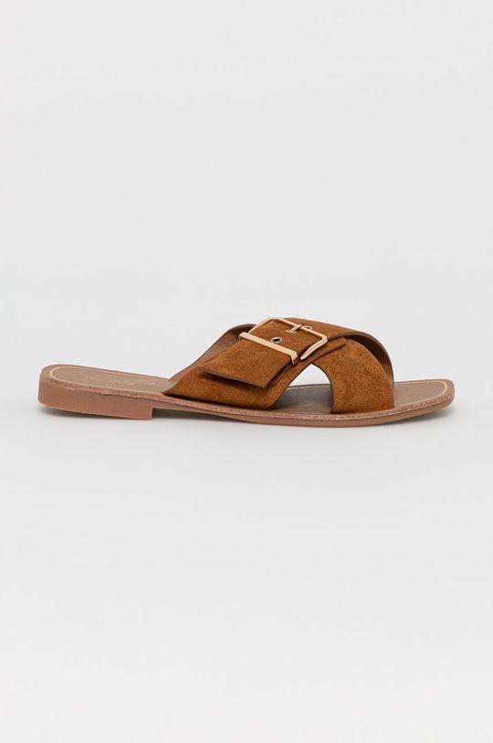 złoty brąz Answear Lab - Klapki Lily Shoes Damski