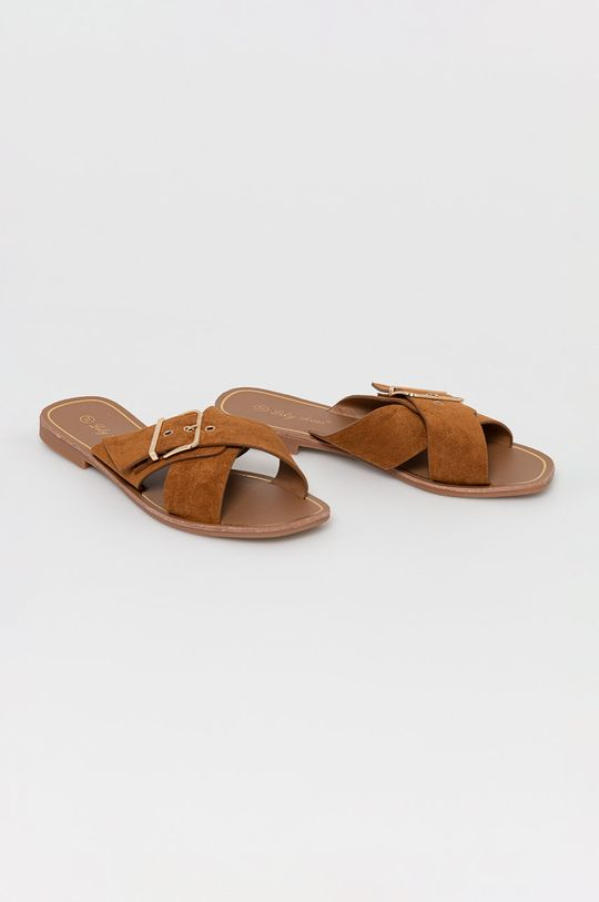 Answear Lab - Klapki Lily Shoes złoty brąz