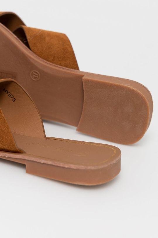 złoty brąz Answear Lab - Klapki Lily Shoes