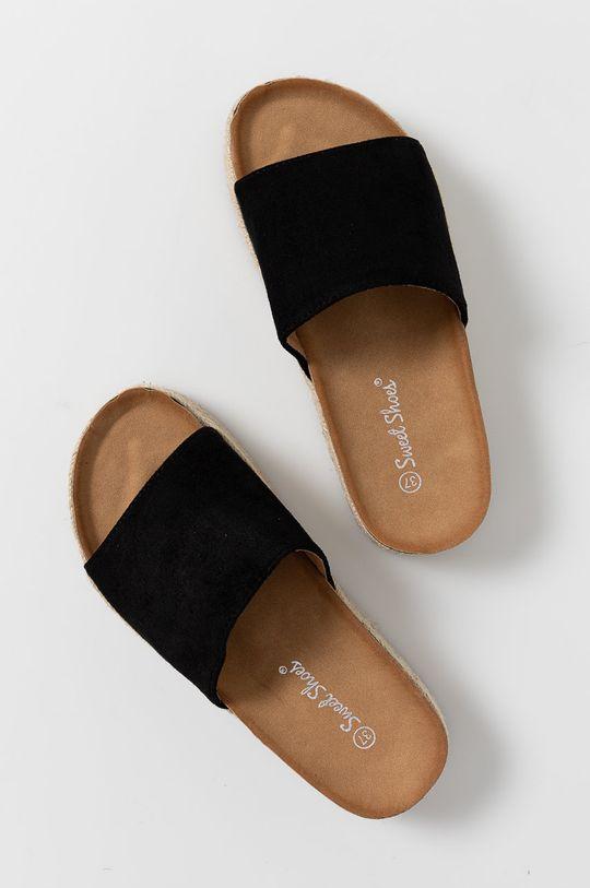 Answear Lab - Šľapky Sweet Shoes čierna