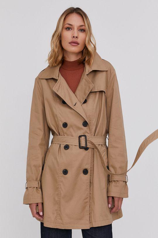 béžová Answear Lab - Trench kabát Dámský