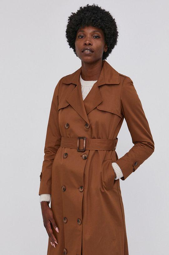 Answear Lab - Trench kabát zlatohnědá